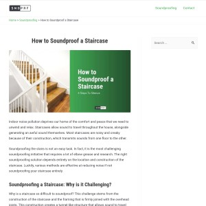 How to Soundproof a Staircase - sndprf