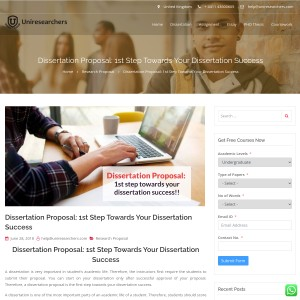 What Is a Dissertation Proposal?