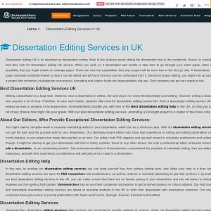 Professional Dissertation Editing Services
