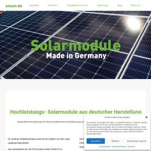 Solarmodule und Solaranlagen vom deutschen Hersteller