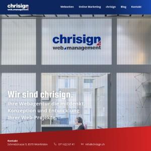 chrisign gmbh - Webdesign & Online Marketing - Weinfelden -
