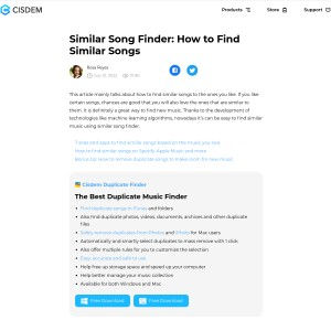 Similar Song Finder: How to Find Similar Songs