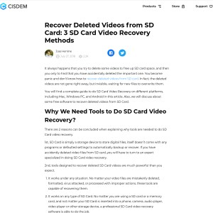 How to Recover Deleted Videos from SD Card