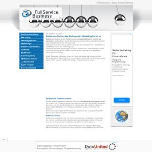Fullservice Online, Werbeportal, Marketingportal, Plattform