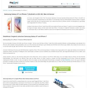 Samsung Galaxy S7 vs Apple iPhone 7: Eigenschaften, Besonderheiten, Preise im Ve