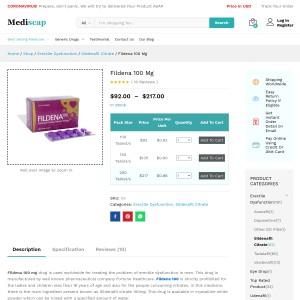 Fildena 100 : Men s beneficial ED pills