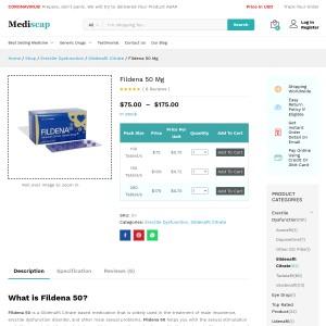 Fildena 50 – Solve your erection problem