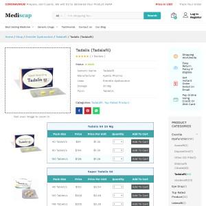 Buy tadalis online | Best price | Mediscap