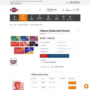 Fildena (Sildenafil Citrate) | Buy Fildena Online [50% OFF] | Fidena Review