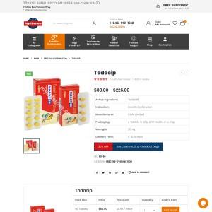 Tadacip 20 Mg Tablet: Tadacip Best Effective ED Treatment