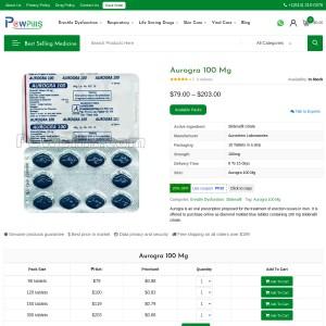 Aurogra 100 mg | Powpills