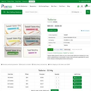 Tadarise Tablets | Best Tadalafil 20%Off | Dosages|Reviews