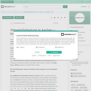 Altmetallabholung in Aachen - kostenlos - kompetent - fair