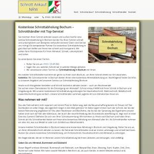 Schrottabholung Bochum | Kostenlos | Flexibel