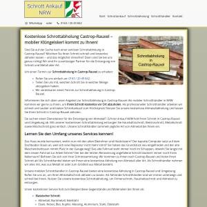 Schrottabholung Castrop-Rauxel | Kostenloser Service | Flexible Termine