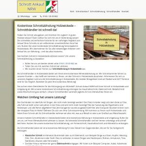 Schrottabholung Holzwickede | Kostenlos | Zum Wunschtermin