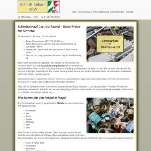 Schrottankauf Castrop-Rauxel | Gute Preise | Professionelle Entsorgung