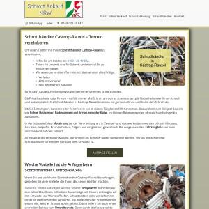 Schrotthändler Castrop-Rauxel | Schrottentsorgung mit Service
