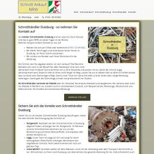 Schrotthändler Duisburg | Kostenlose Abholung | Fairer Ankauf