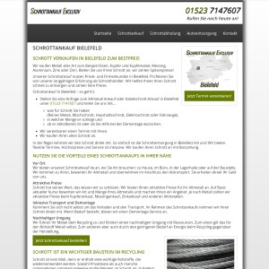 Schrottankauf Bielefeld | Attraktive Schrottpreise | Schrottankauf Exclusiv