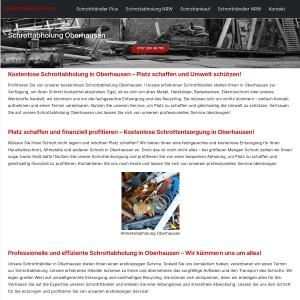 Schrottabholung Oberhausen > direkt vor Ort