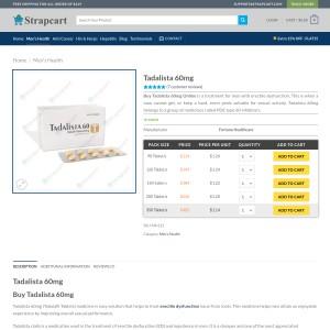 For Long Lasting Sex - Tadalista 60mg Tablet