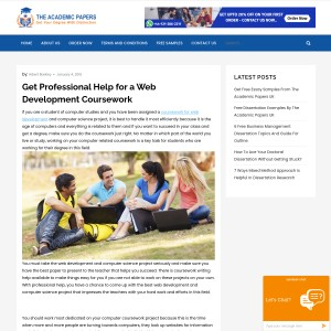 Get Professional Help to Complete a Coursework for a Web Development and Compute