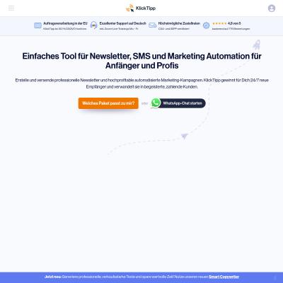 Das Partnerprogramm von Klick-Tipp. Das Beste oder nichts