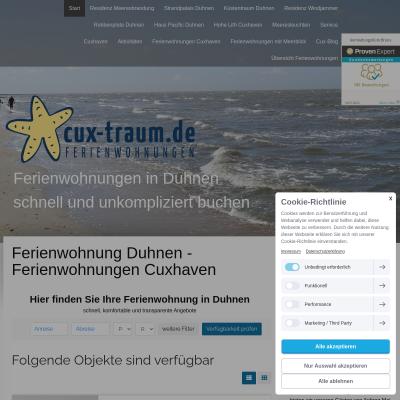 Hier finden Sie die Traum Ferienwohnung in Cuxhaven Duhnen
