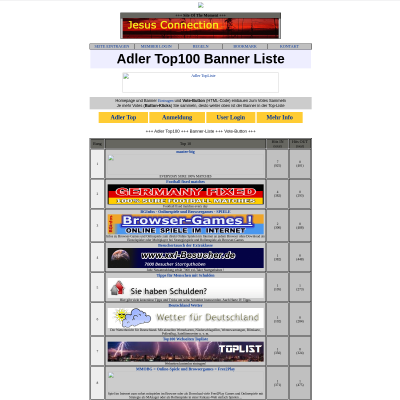 Adler 468x60 Top100 Banner-Liste mit Vote-Button