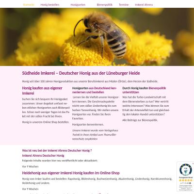 Beschreibung Deutscher Honig aus der Imkerei Ahrens