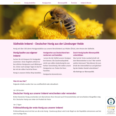 Deutscher Honig kaufen Versand Imkerei Heidehonig Online