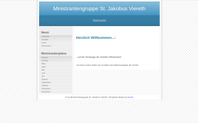Screenshot www.ministranten-viereth.de