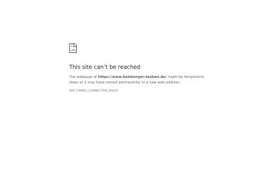 Screenshot www.bamberger-tauben.de