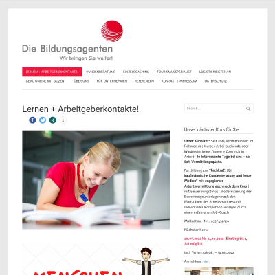 Lernen + Arbeitgeberkontakte! - Die Bildungsagenten