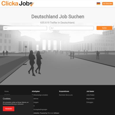 ClickaJobs arbeitet auf Pay-Per-Click-Basis