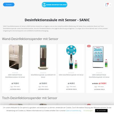 Desinfektionssäule mit Sensor SANIC