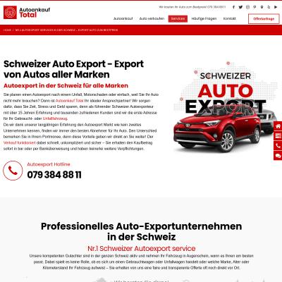 Autoexport Ankauf Schweiz