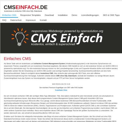 einfaches CMS, CMS kostenlos, CMS ohne SQL