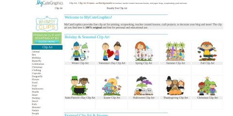 MyCuteGraphics - Clip Art - Backgrounds - Clip Art Frames